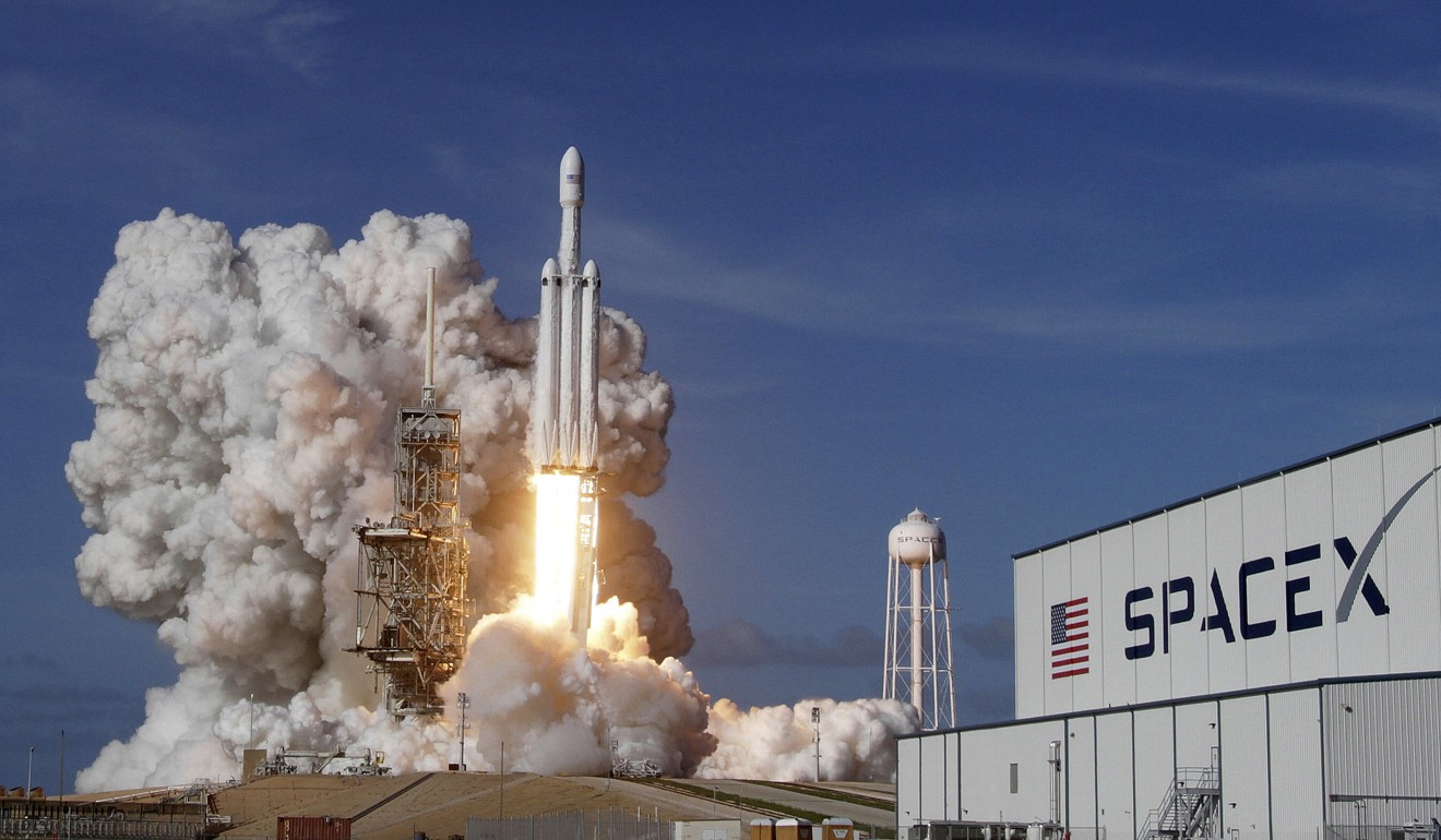 SpaceX Big Falcon Rocket Launch